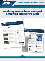 APWA Buyer's Guide, the leading online directory for public works products and services