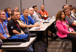Public works professionals participate in an APWA education session