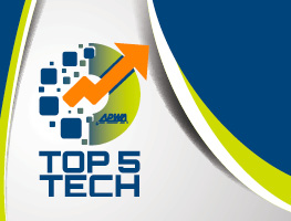 Futuristic APWA Top 5 Tech logo