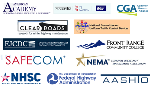 A collage of logos representing APWA's external association partners